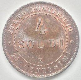 Pio IX - 4 soldi 1867 anno XXII