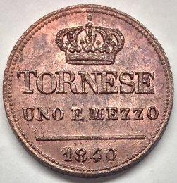Ferdinando II - Tornese uno e ...