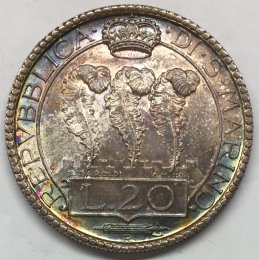 San Marino - 20 lire 1935 Roma