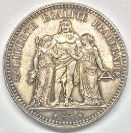 Terza Repubblica - 5 Franchi 1848 ...