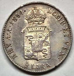 Lombardo Veneto - 1/2 lira 1854 V ...