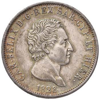 CARLO FELICE (1821-1831) - 5 Lire ...
