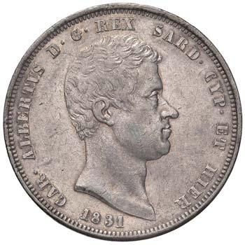 CARLO ALBERTO (1831-1849) - 5 Lire ...
